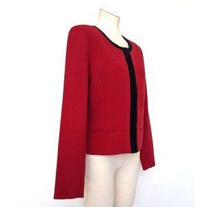 NWT Dex Red Crimson Black Short Blazer Jacket